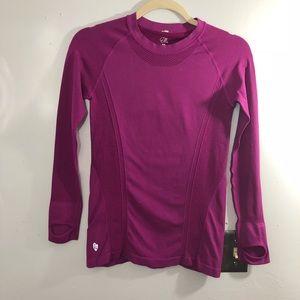 Ellie Purple Long Sleeve Thumb Active Running